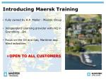 introducing maersk training