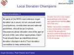 local donation champions