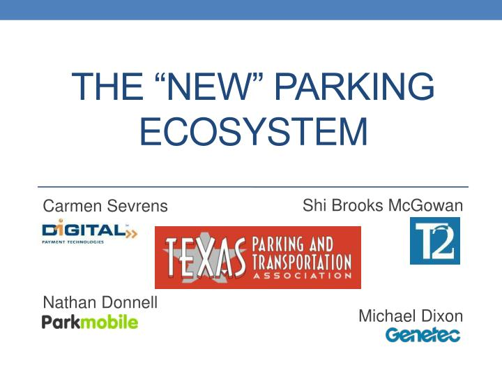 the new parking ecosystem n.