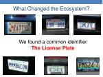 what changed the ecosystem