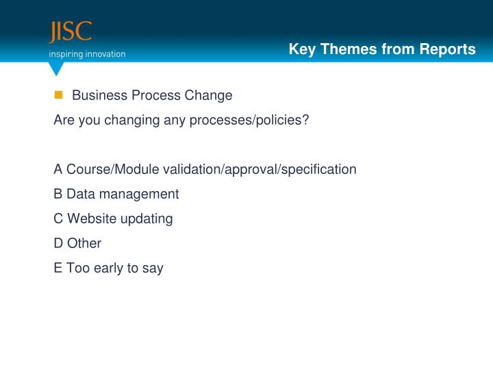 Key Themes from Reports