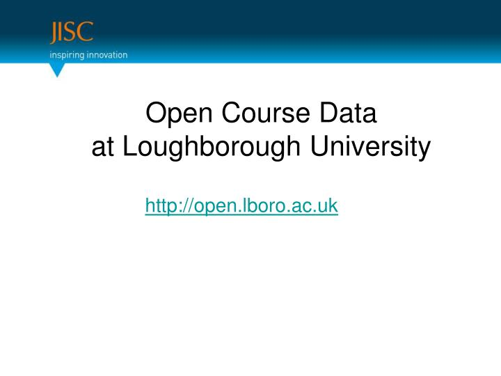 Open Course Data