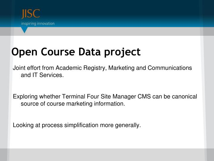 Open Course Data project