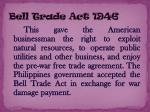 bell trade act 1946