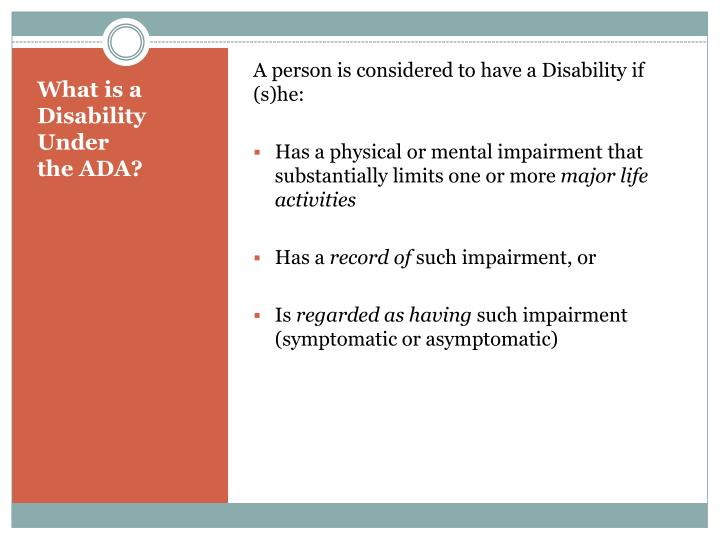 what is a disability under ada