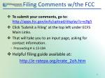 filing comments w the fcc