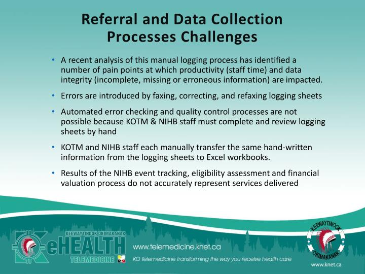 Referral and Data Collection Processes Challenges