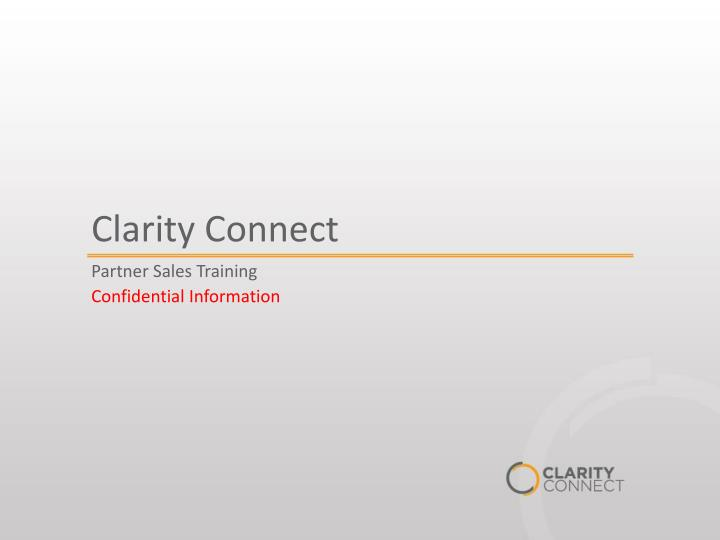 clarity connect n.