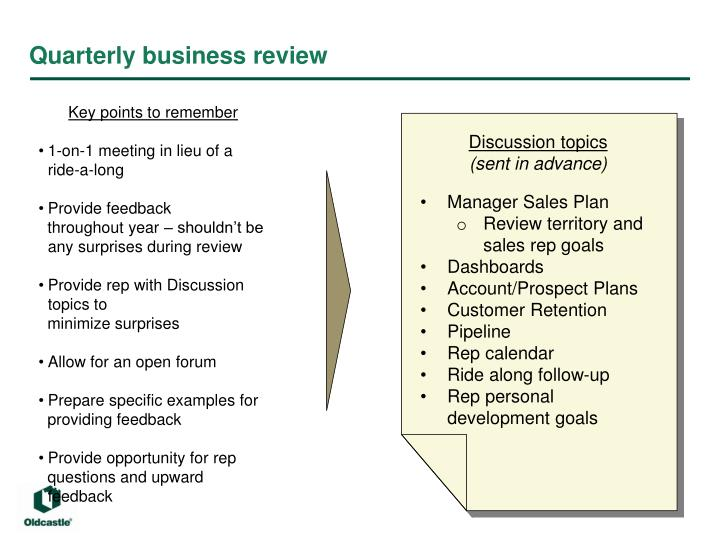 quarterly business review n.