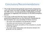 conclusion recommendations