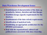 data warehouse development issues1