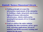 kimballs business dimensional lifecycle4