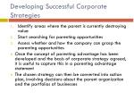 developing successful corporate strategies1