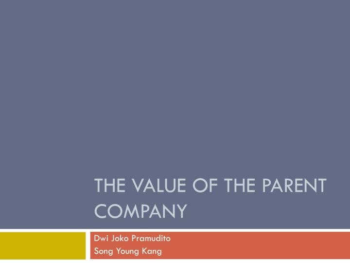 the value of the parent company n.