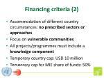 financing criteria 2