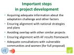 important steps in project development