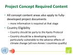 project concept required content