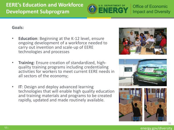 EERE's Education and Workforce Development Subprogram