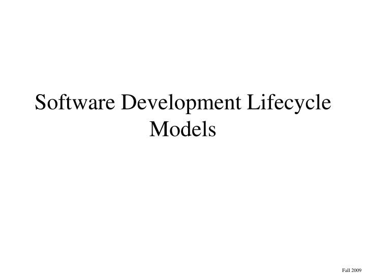 software development lifecycle models n.