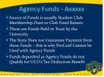 agency funds axxxxx