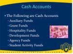 cash accounts