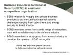 business executives for national security bens is a national non partisan organization