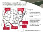 dod should pursue 6 to 8 at scale microgrid development projects