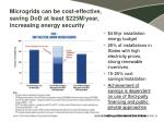 microgrids can be cost effective saving dod at least 225m year increasing energy security