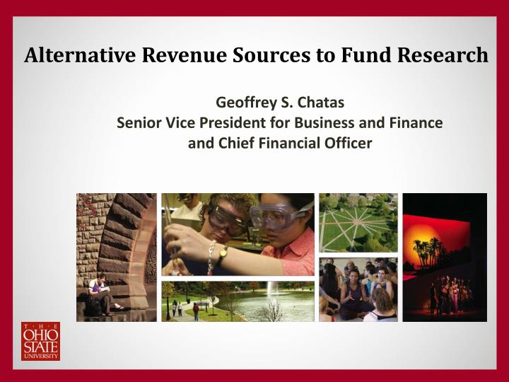 alternative revenue sources to fund research n.