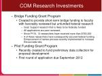 com research investments