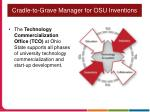cradle to grave manager for osu inventions