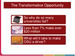 the transformative opportunity1