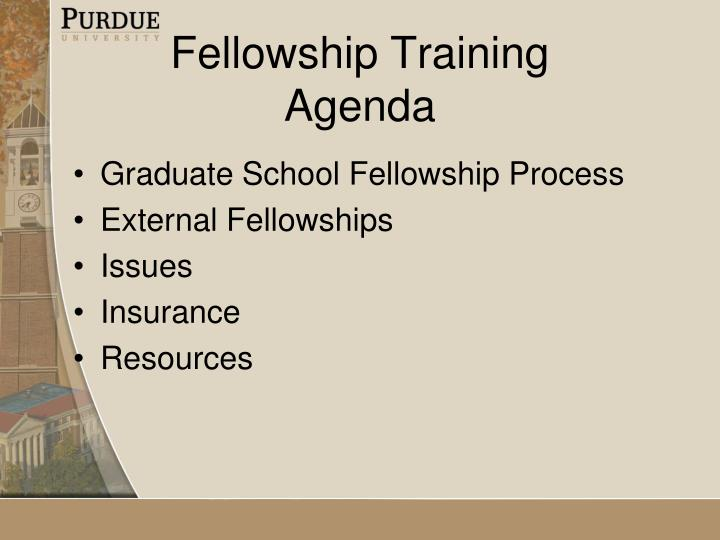 fellowship training agenda n.