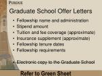 graduate school offer letters