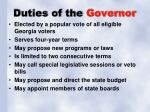duties of the governor