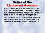 duties of the lieutenant governor1