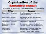 organization of the executive branch1