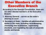 other members of the executive branch