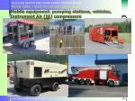 mobile equipment pumping stations vehicles instrument air ia compressors
