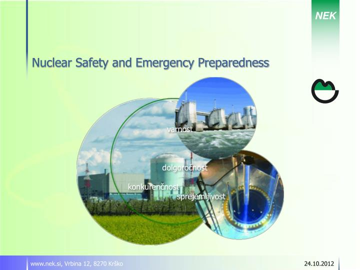 nuclear safety and emergency preparedness n.