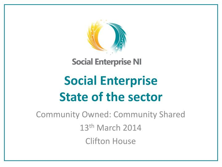social enterprise state of the sector n.