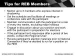 tips for reb members