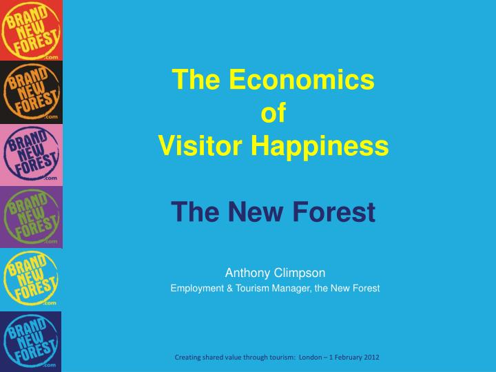 the economics of visitor happiness the new forest n.