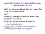 learning strategies your guide to classroom and test taking success