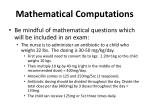 mathematical computations