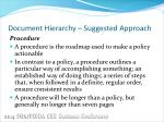 document hierarchy suggested approach3