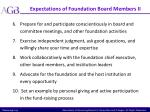 expectations of foundation board members ii