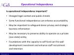 operational independence