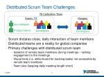 distributed scrum team challenges