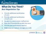 what do you think best negotiation tips